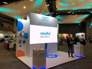 Mindful Educations's exhibition stand at the AoC Annual Conference